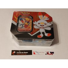 Pokemon Galar Partner Cinderace V Tin - 5 Booster Packs & foil promo card