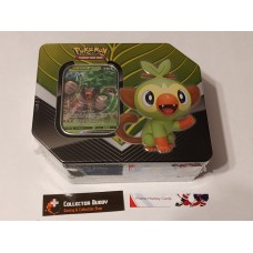 Pokemon Galar Partner Rillaboom V Tin - 5 Booster Packs & foil promo card