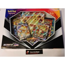 Pokemon Meowth Vmax Special Collection Box - 4 Booster Packs & foil promo