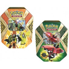 POKEMON - Both Tins Tapu Koko-GX & Tapu Bulu-GX Island Guardians Tins, 2 Foils, 8 Booster Packs