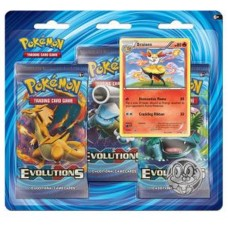 POKEMON - Pokemon XY12 Evolutions 3 Booster Packs, Braixen Holographic Promo Card and Coin - POXY12EVB3PK