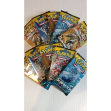 POKEMON -  Sun & Moon - 10 Booster Packs Lot (10x10 = 100 Trading Game Cards)