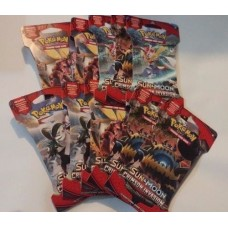 Pokemon - Sun & Moon Crimson Invasion 10 Blister Booster Packs Lot 10x10=100TGCs