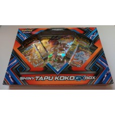 POKEMON - Shiny Tapu Koko GX Box 4 Booster Packs, Foil, Oversized & more