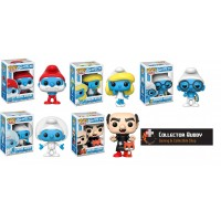 Funko Pop! All Five Animation 269-273 Smurfs Papa Smurfette Brainy Astro  Gargamel Pop Vinyl Action Figures