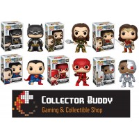 Funko Pop! All Six Heroes 204-209 DC Justice League Batman Aquaman Wonder Woman Superman Flash Cyborg Pop Vinyl