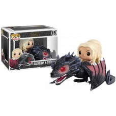 Slightly Damaged Box Funko Pop! Rides 15 Game of Thrones Daenery Drogon Vinyl Action Figure FU7235