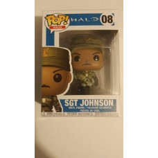 Damaged Box Funko Pop! Games Halo 08 Sgt Johnson Sargent Pop Vinyl Figure FU30101