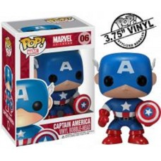 Funko Pop! Marvel 06 Captain America Pop Vinyl Action Figure Bobble Head FU2224
