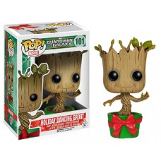 Funko Pop! Marvel 101 GOTG Guardians of the Galaxy Holiday Dancing Groot Pop Vinyl Action Figure Bobble Head FU6196