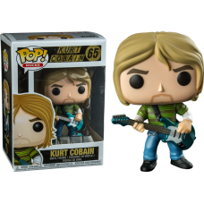 Damaged Box Funko Pop! Music Rocks 65 Kurt Cobain Teen Spirit Pop Vinyl Figure FU24777
