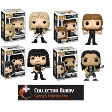 Funko Pop! All Four Music Rocks 57-60 Metallica James Lars Kirt Robert Pop Vinyl