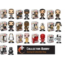 Funko Pop! All Thirteen Star Wars 8 The Last Jedi Pop Complete Set Rey Fin Porg