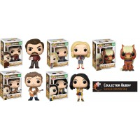 Funko Pop! All Five Television 498-502 Parks and Recreation Ron Leslie Andy April Sebastian Pop Vinyl Action Figures