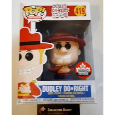 Damaged Box Funko Pop! Animation 419 Dudley Do Right Pop 2018 Canadian Convention Exclusive