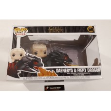Damaged Box Funko Pop! Rides 68 Game of Thrones Daenerys on Drogon with Fire Pop Vinyl Figure FU45338