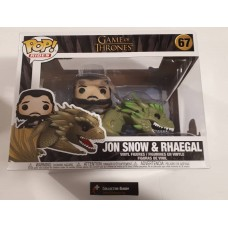 Damaged Box Funko Pop! Rides 67 Game of Thrones Jon Snow on Rhaegal Vinyl Action Figure Pop FU44448