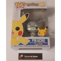 Funko Pop! Games 353 Pokemon Pikachu Silver Metallic Pop Vinyl Figure FU54044