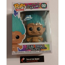 Damaged Box Funko Pop! Good Luck Trolls 02 Teal Troll Pop Vinyl Action Figures FU44603