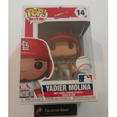 Damaged Box Funko Pop! MLB 14 St. Louis Cardinals Yadier Molina Baseball Pop Figure FU37985