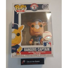 Damaged Box Funko Pop! MLB 20 Texas Rangers Captain Mascot Baseball Pop Figure FU40395