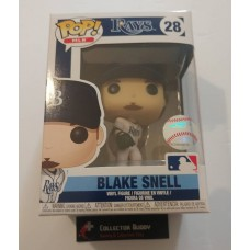 Funko Pop! MLB 28 Tampa Bay Rays Blake Snell Baseball Pop Vinyl Figure FU38677