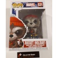Funko Pop! Marvel 531 Rocket Holiday Raccoon with Hat Pop Vinyl Figure FU43334