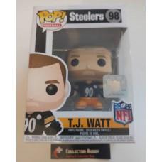 Funko Pop! Football 98 TJ Watt Pittsburgh Steelers  T.J T J NFL Pop Vinyl Figure FU31752