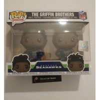 Funko Pop! Football Griffin Brothers Shaquill Shaquem Seattle Seahawks 2Pack Pop NFL FU38166