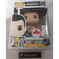 Funko Pop! Hockey 31 Sidney Crosby Penguins Away NHL Pop Canada Exclusive