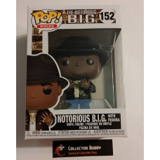 Damaged Box Funko Pop! Music Rocks 152 The Notorious B.I.G. BIG Biggie with Fedora Pop FU45430