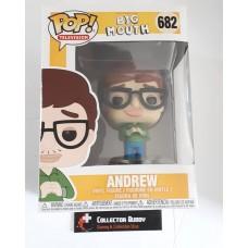 Funko Pop! Television 682 Netflix Big Mouth Andrew Pop Vinyl Figure FU32168