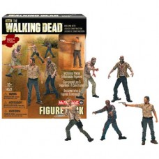McFarlane AMC The Walking Dead TWD Construction 5 Figure Pack Rick Merle Walkers