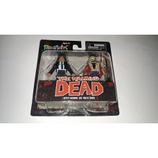Diamond Select MiniMates The Walking Dead TWD Deputy Michonne & Winter Zombie