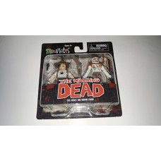 Diamond Select MiniMates The Walking Dead TWD Carl Grimes & Burning Zombie