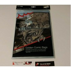"Ultra Pro - 1 Pack of 100 - Comic Book Bag  - Golden Size Comics up to 7-3/4"" x 10-1/2"" (19.6cm x 26.6cm)"