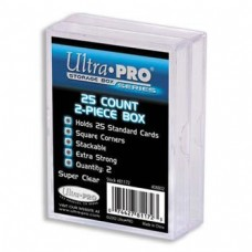 Ultra Pro  - Pack of 2 - 2-Piece Plastic Box 25 CT