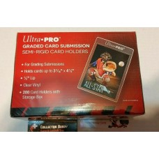 Ultra Pro - Box of 200 Tall Semi Rigid Graded Card Submission Holders