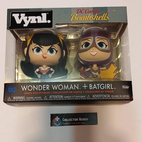 VYNL DC BOMBSHELLS WONDER WOMAN /& BATGIRL VINYL FIGURES